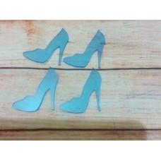 Acrylic Transparent Blue shoe